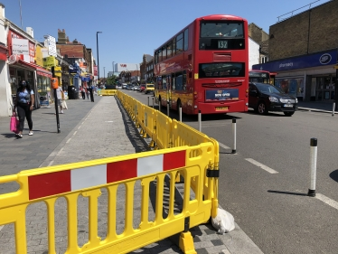 Traffic barriers on Eltham High Street